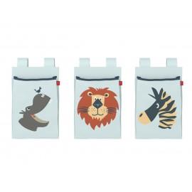 3 poches de lit - Safari