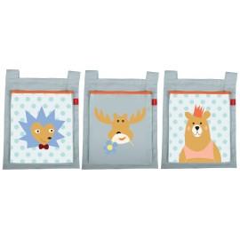 3 poches de lit - Forêt