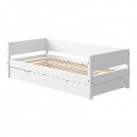 Evolutief laag bed met bedbank - White