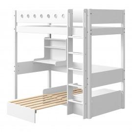 Lit mezzanine évolutif lit sofa & bureau - White