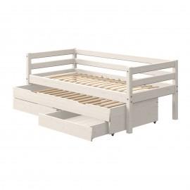 Evolutief laag bed met bedbank en 2 lades - Classic