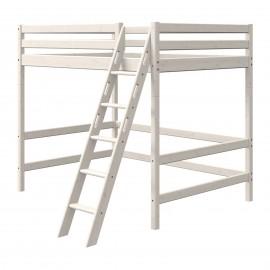 Evolutief mezzaninebed met bed van 140 cm en schuine ladder - Classic