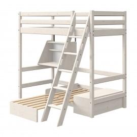 Lit mezzanine évolutif Casa échelle inclinée - Classic
