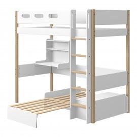 Evolutief mezzaninebedmet bureau en slaapbank - NOR