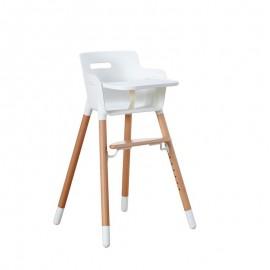 Chaise haute avec tablette  -  Baby