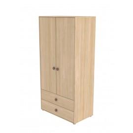Garde-robe 2 portes et 2 tiroirs - Popsicle & NOR